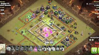 Clash of Clan Town Hall 12 attack with Max troops