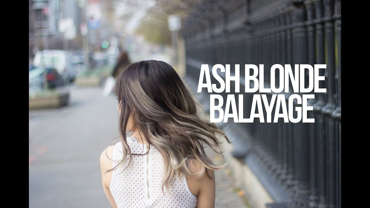 From Dark To Ash Blonde Balayage