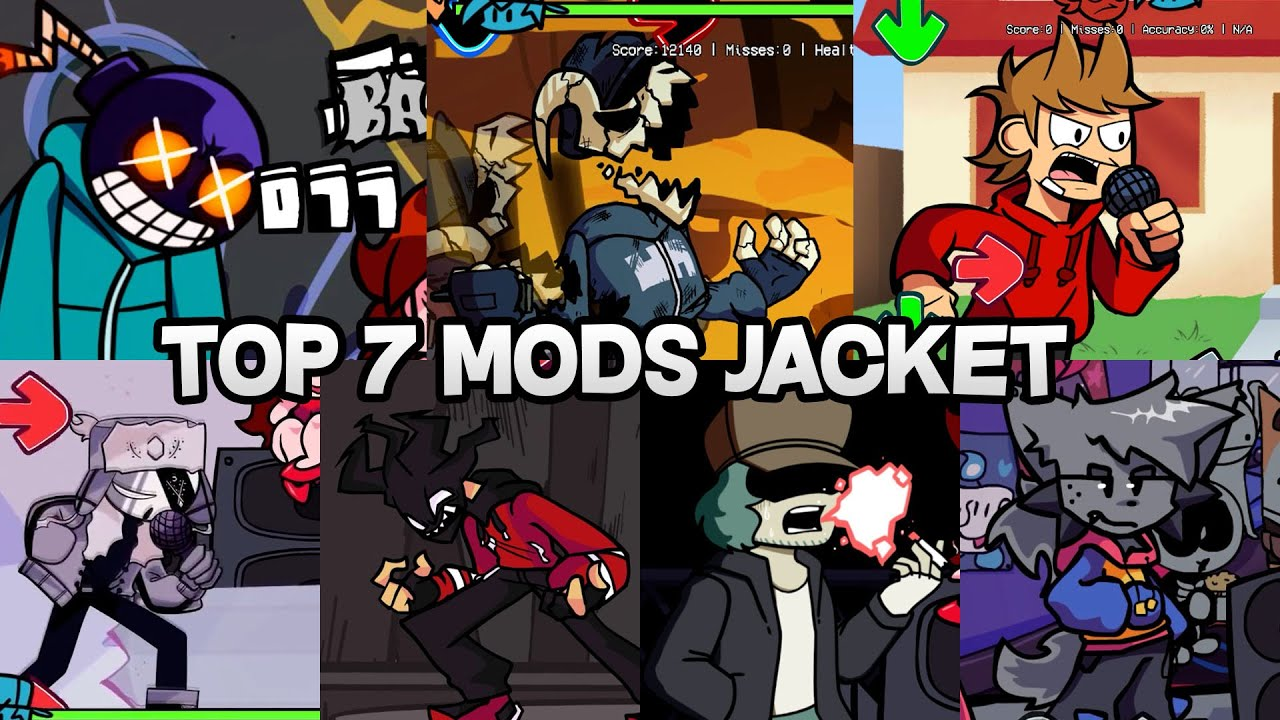 Top 7 Hardest Mods With a Jacket In Friday Night Funkin Mod Compilation #2