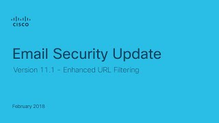 Email Security Enhanced URL Filtering