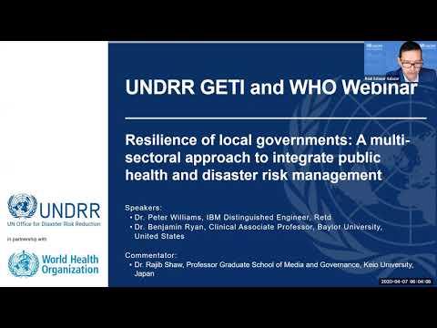 UNDRR COVID-19 Webinar 3: Resilience of Local Governments