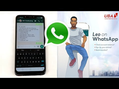 How To Use UBA Chat Banking AI On WhatsApp - Meet Leo!