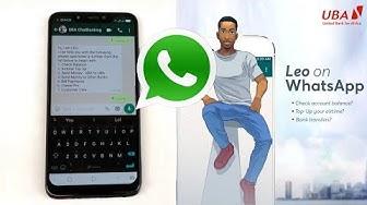 How To Use UBA Chat Banking AI On WhatsApp - Meet Leo!