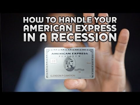 MONEY INCOME And PROFIT How To Handle Your AMERICAN EXPRESS CREDIT CARD During The RECESSION