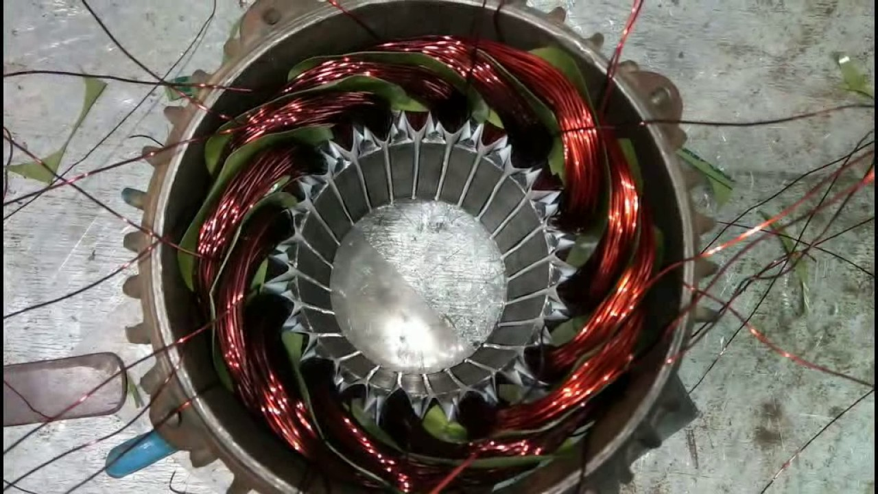 Rewinding Of Three Phase Motor Part 2 Youtube