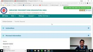 2021 Update - How to transfer (merge) Multiple PF Acounts from one company to other online in Hindi