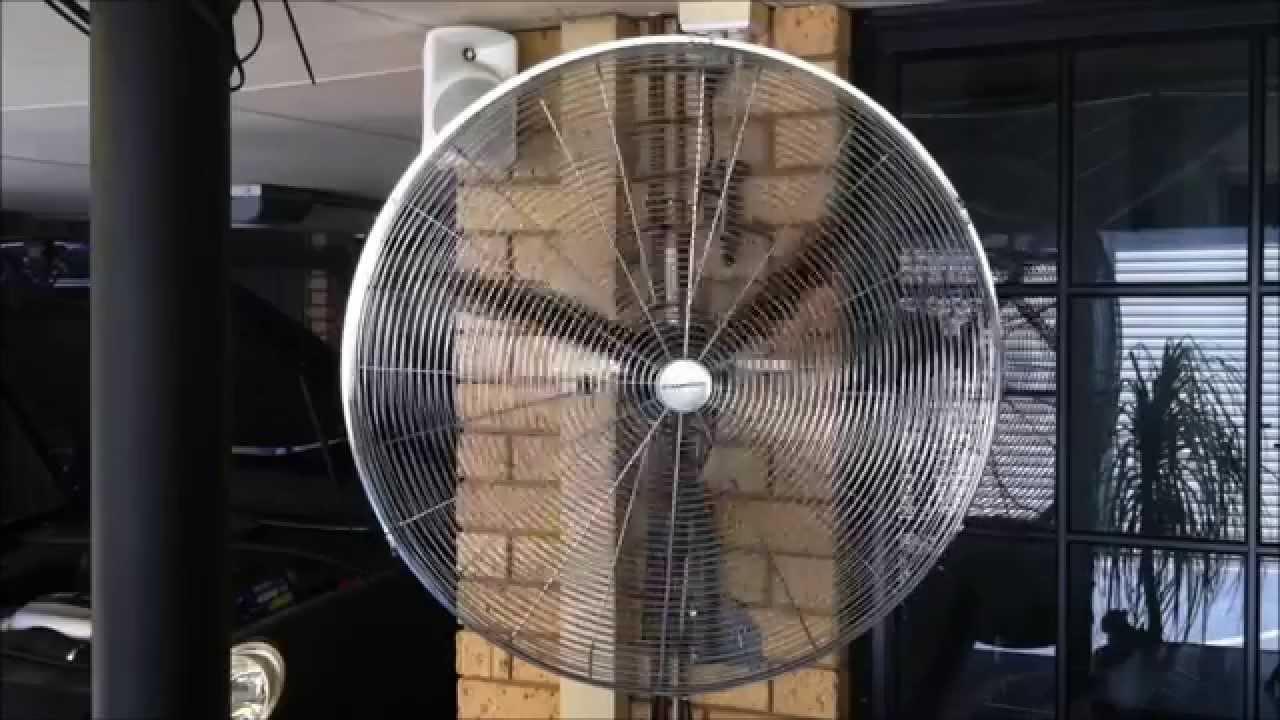 Dynabreeze 750mm Wall Fan Youtube