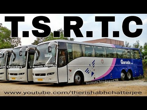 Tsrtc New Garuda Plus Volvo 9400 Multi Axle Bus Telangana India Youtube