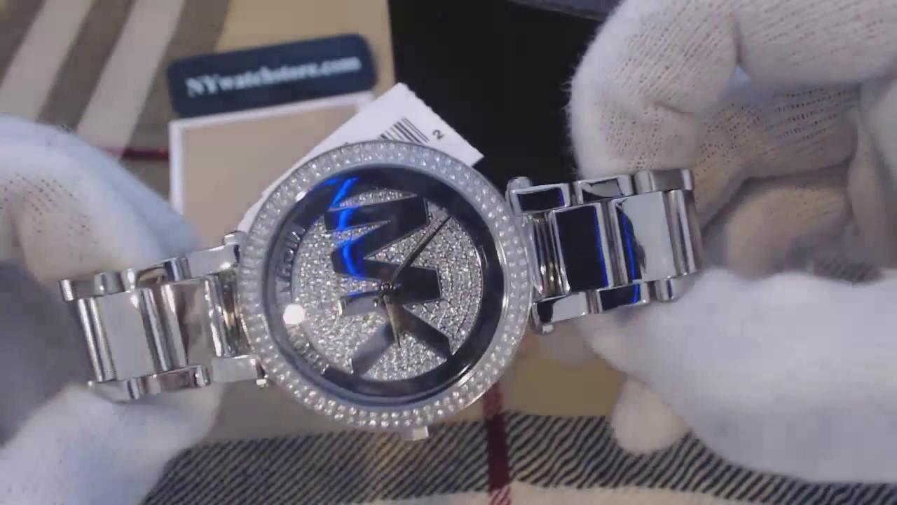 208090861fe1 Women s Michael Kors Parker Stainless Steel Glitz Watch MK5925 - YouTube