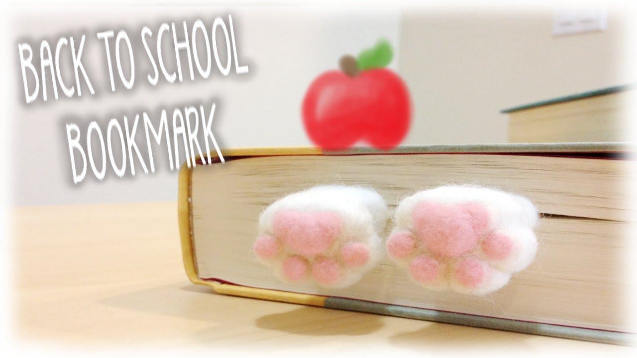 Diy back to school cute kitty bookmark tutorial youtube for Diy kitty