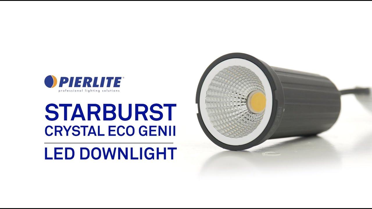 Pierlite Starburst Crystal Eco Gen II LED Downlight
