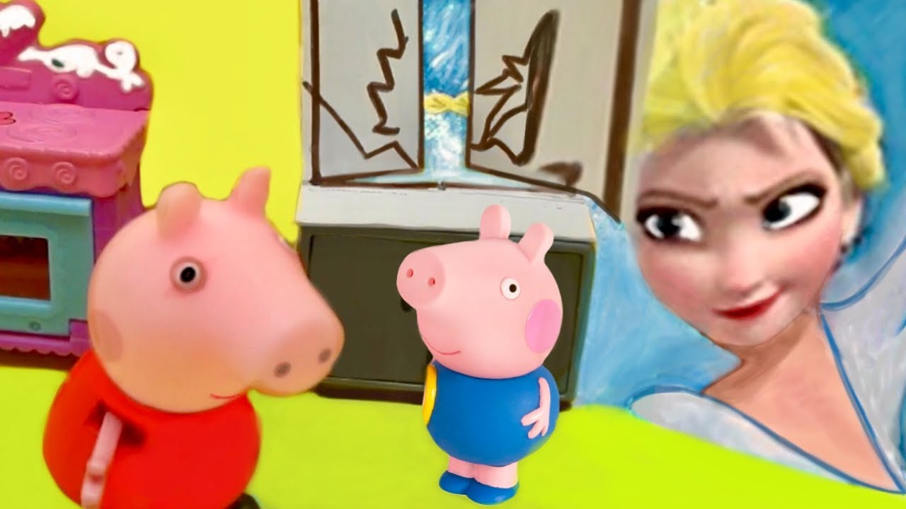 Toy Adventures: Peppa, George, and Queen Frozen I Bedtime Story I Toys and Dolls for Kids