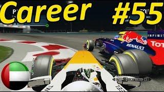 F1 2013 Abu Dhabi 100% Career Mode Part 55: NIGHT RACE!