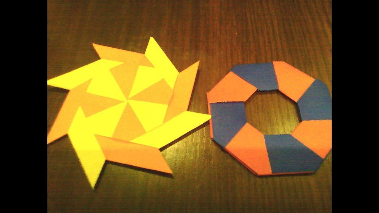 Origami Transforming 8 Pointed Shuriken - YouTube - photo#44