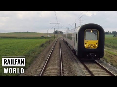 Cab Ride On A Rainy Day In Belgium With Relaxing Background Music | By Train From De Panne To Ghent