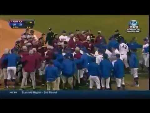 Jameis Winston fight in Florida vs Florida State baseball game 3/25/14