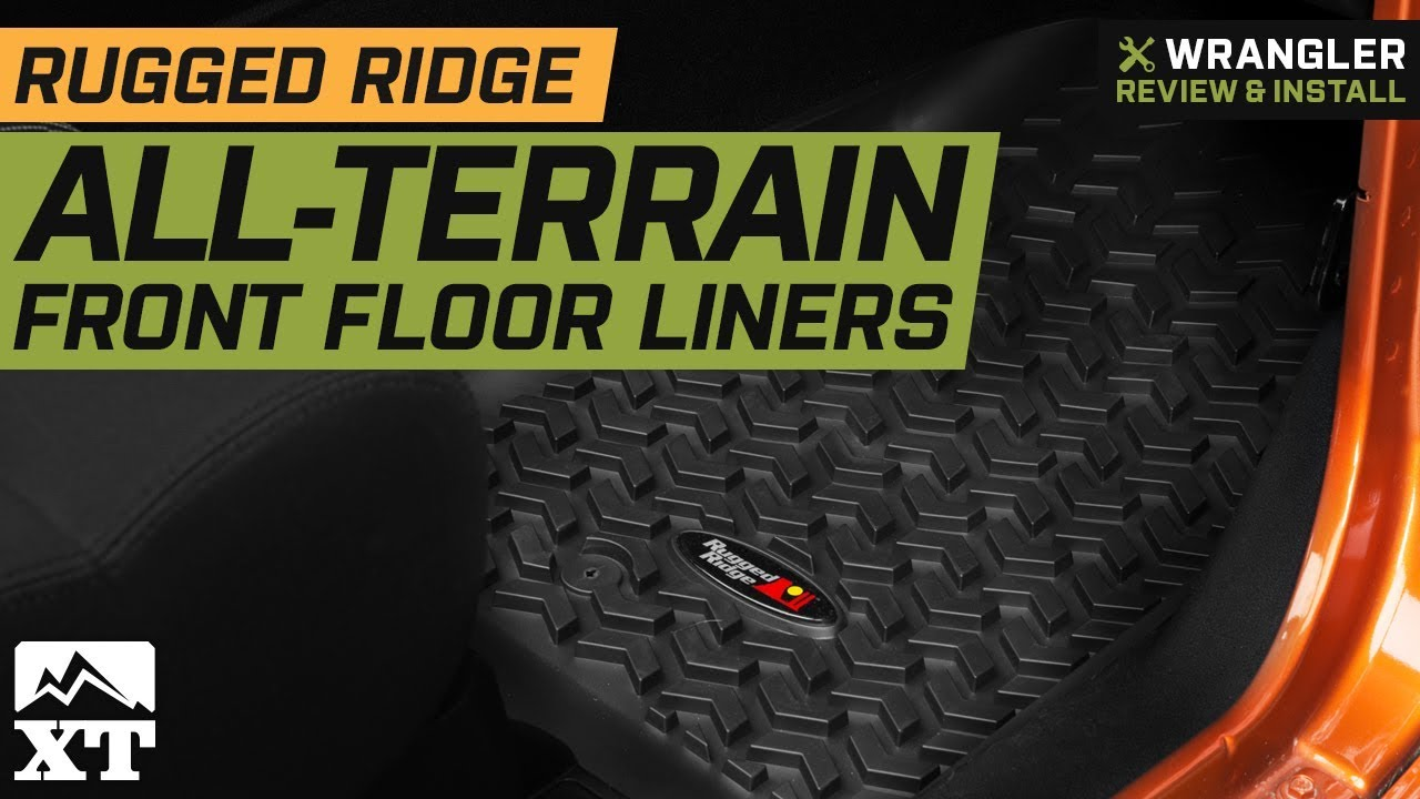 Jeep Wrangler Rugged Ridge All Terrain Front Floor Liners Black