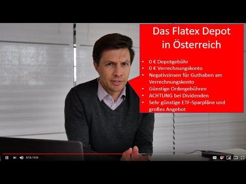 Flatex Depot für Österreicher: Wann sinnvoll? - Stand 04/2019