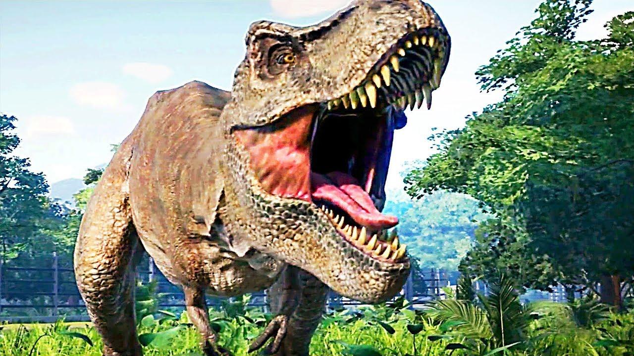 JURASSIC WORLD EVOLUTION Gameplay Trailer (2018) Dinosaurs Video Game