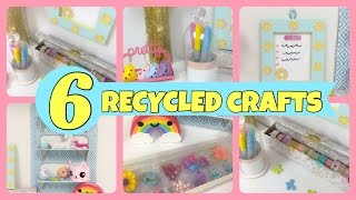 Video 6 RECYCLED CRAFTS to organize\Room decor download MP3, 3GP, MP4, WEBM, AVI, FLV November 2017