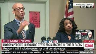 Broward Election Officials Announce Vote Recount For Governor And U.S. Senate Races!