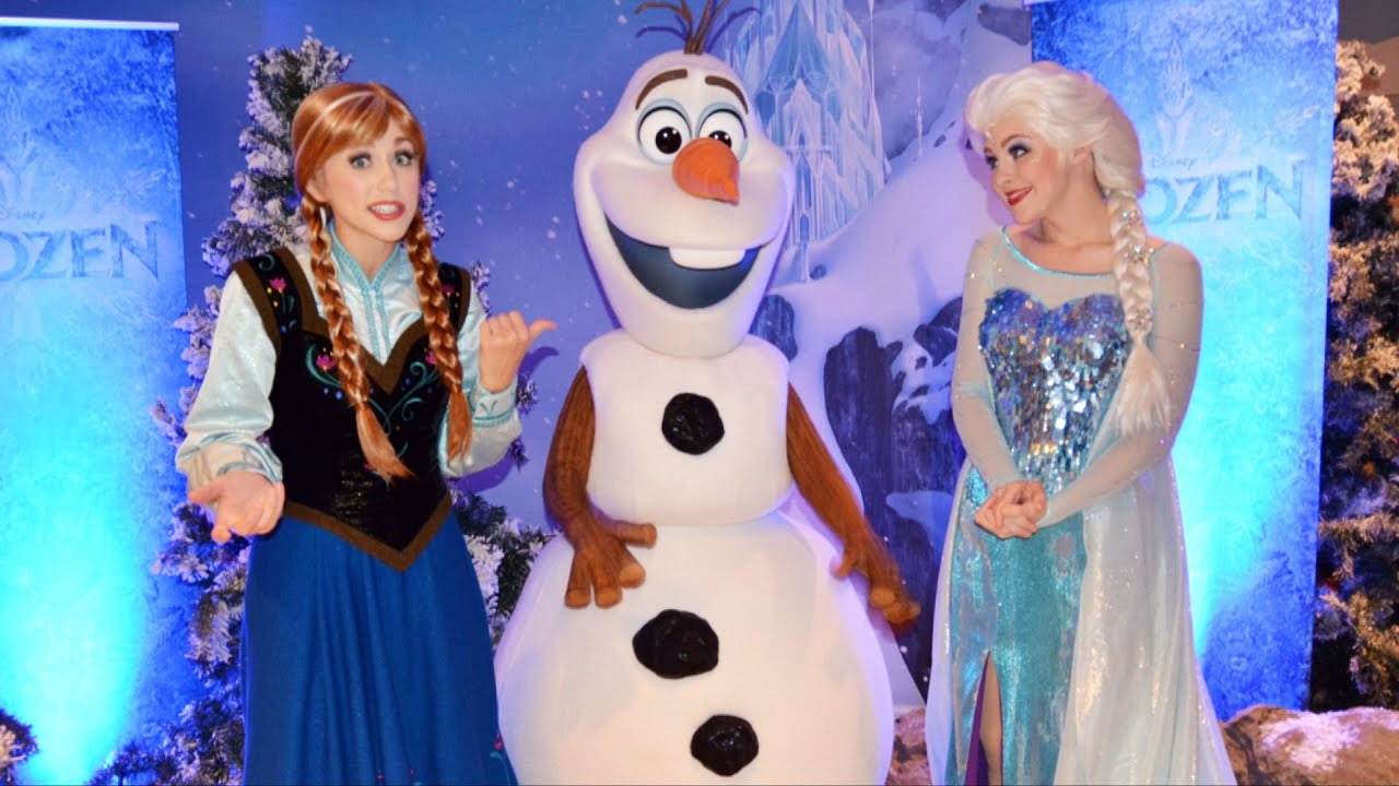 FROZEN Anna & Elsa W/Olaf Meet At Disney Cruise Line Event; Talk Personal Flurries, Sunscreen