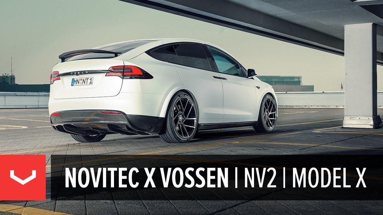 hight resolution of novitec x vossen tesla model x nv2 forged wheel