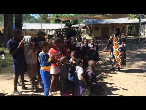 OVC Project Mwandi:  Judith & Children Singing