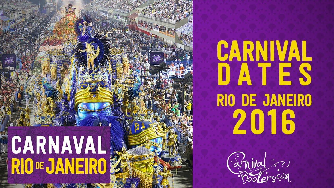 Carnival Dates Rio de Janeiro 2016 - YouTube