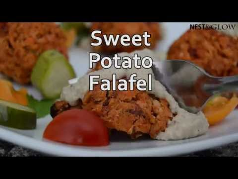 Sweet Potato Falafel with Sesame Lemon Dressing Recipe
