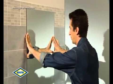 Come attaccare piastrelle al muro awesome colla per piastrelle