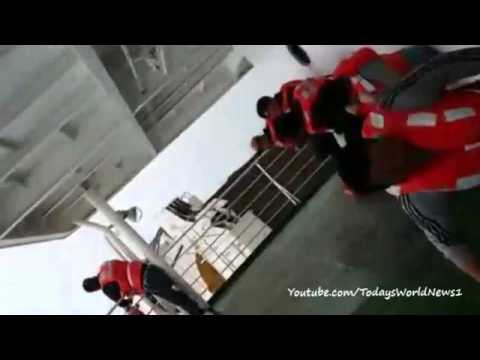 S Korea ferry: Amateur video from aboard listing vessel
