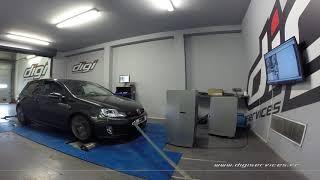 VW Golf 6 ed35 235cv DSG Reprogrammation Moteur @ 309cv Digiservices Paris 77 Dyno