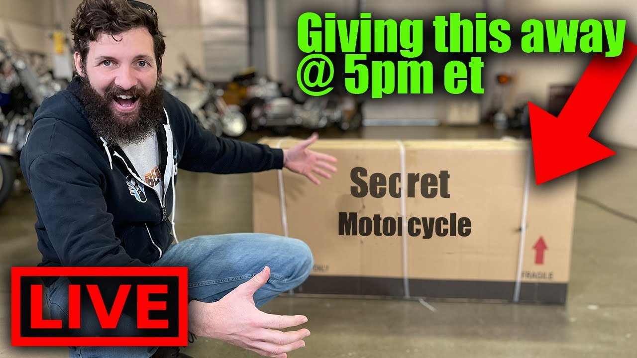LIVE Motorcycle Unboxing + HUGE GIVEAWAYS