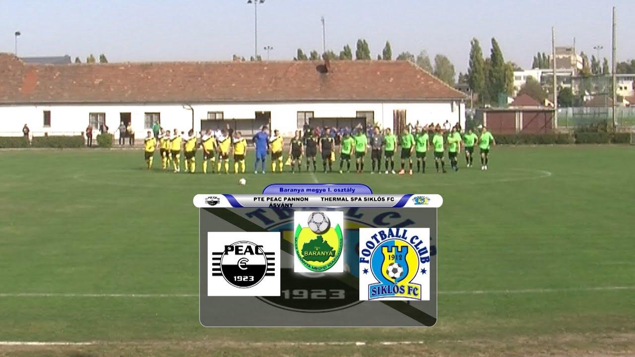 PTE PEAC PANNON ÁSVÁNY - THERMAL SPA SIKLÓS FC   2 - 3 (2 - 1)