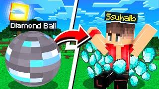 ماين كرافت كورة الدايموند!😱 (القبعة السحرية!)🤠 - Diamond Ball