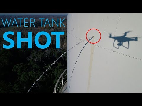 What happens when you SHOOT a Water Tower - KEN HERON - DJI Phantom 4 PRO
