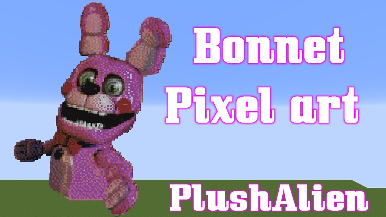 Minecraft Pixel Art Speedbuild Bonnet Fnaf смотреть