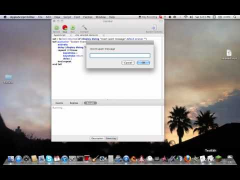 How to Make a Spambot/Autotyper on Your Mac