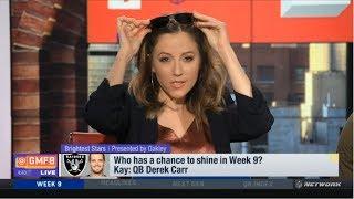 "Kay Adams ""heated debate"" QB Derek Carr has a chance to shine in Week 9? | NFL GMFB"