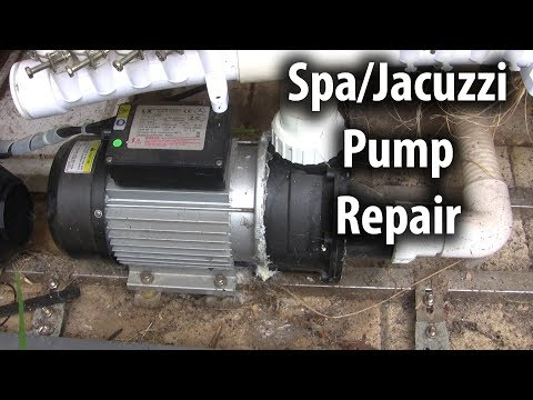 spa/jacuzzi pump repair (bearing and seal)