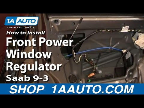 How To Replace Window Regulator 03 11 Saab 9 3 Youtube