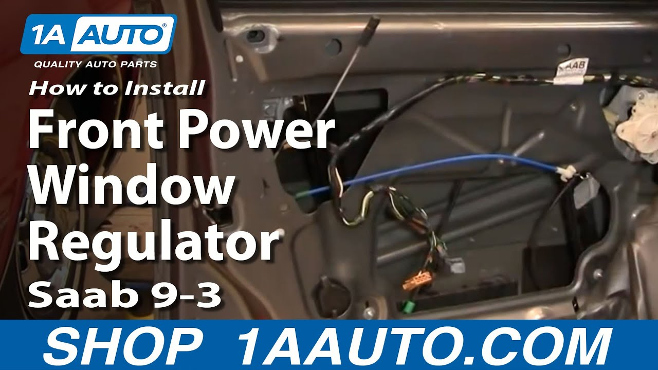 how to replace window regulator 03-11 saab 9-3