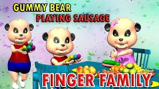 3D GUMMY BEAR playing SAUSAGE Finger Family Nursery Rhyme and Kids Songs Collection from Peppy Tots
