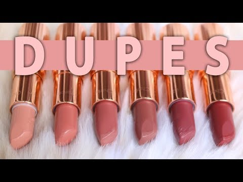 Drugstore Dupes for Popular Charlotte Tilbury Lipsticks
