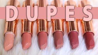 Drugstore Dupes for Popular Charlotte Tilbury Lipsticks