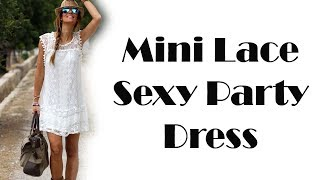Hot Mini Lace Dress Sexy Party Dress Review