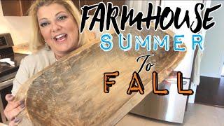Summer to Fall Let's get ready!!! farmhouse dough bowl arrangement