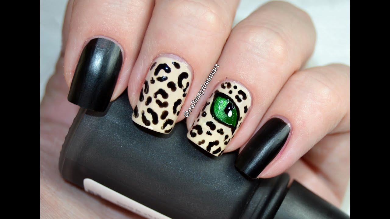 Matte Leopard Print Cats Eye Nail Art Tutorial