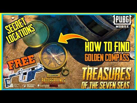 HOW TO FIND GOLDEN COMPASS IN PUBG MOBILE ( SECRET LOCATIONS ) - GET VECTOR GUN SKIN